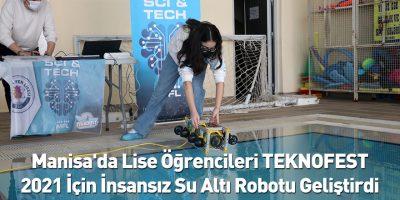 İnsansız su altı robotu geliştirdiler