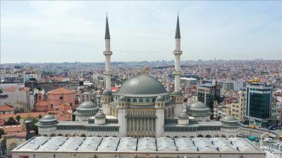 Taksim camisi açılışa hazırlanıyor